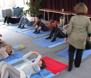 Caryn Truppman teaches a Feldenkrais Method class